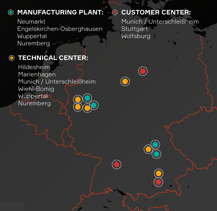 Aptiv locations listed in Germany
