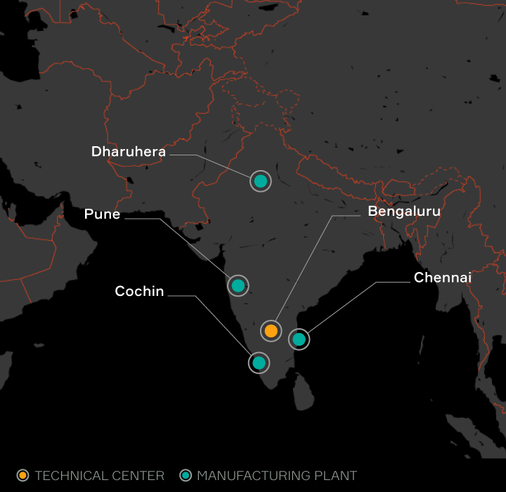 Aptiv locations listed in India