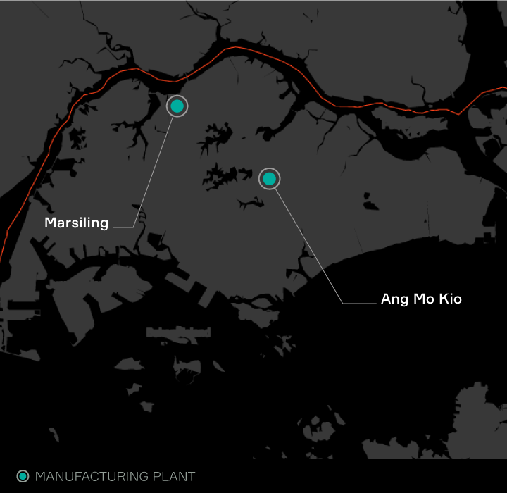 Aptiv locations listed in Singapore