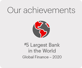 Our achievements 5th largest bank in the world - Global Finance 2020