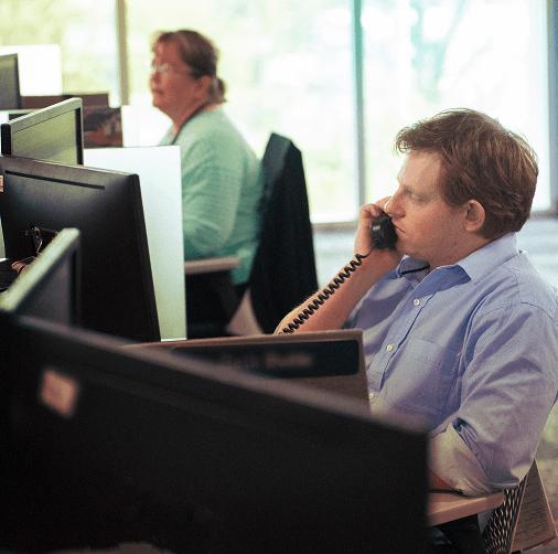 Story image: Customer service representative on a call
