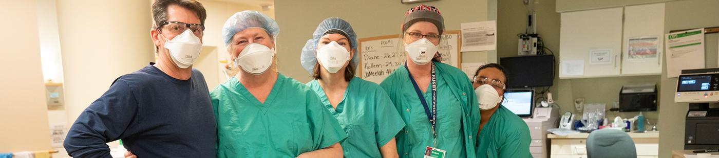 Nurse on the left