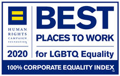 Human Rights Campaign 2019 Best Places to work for LGBTQ equality 100% corporate quality index