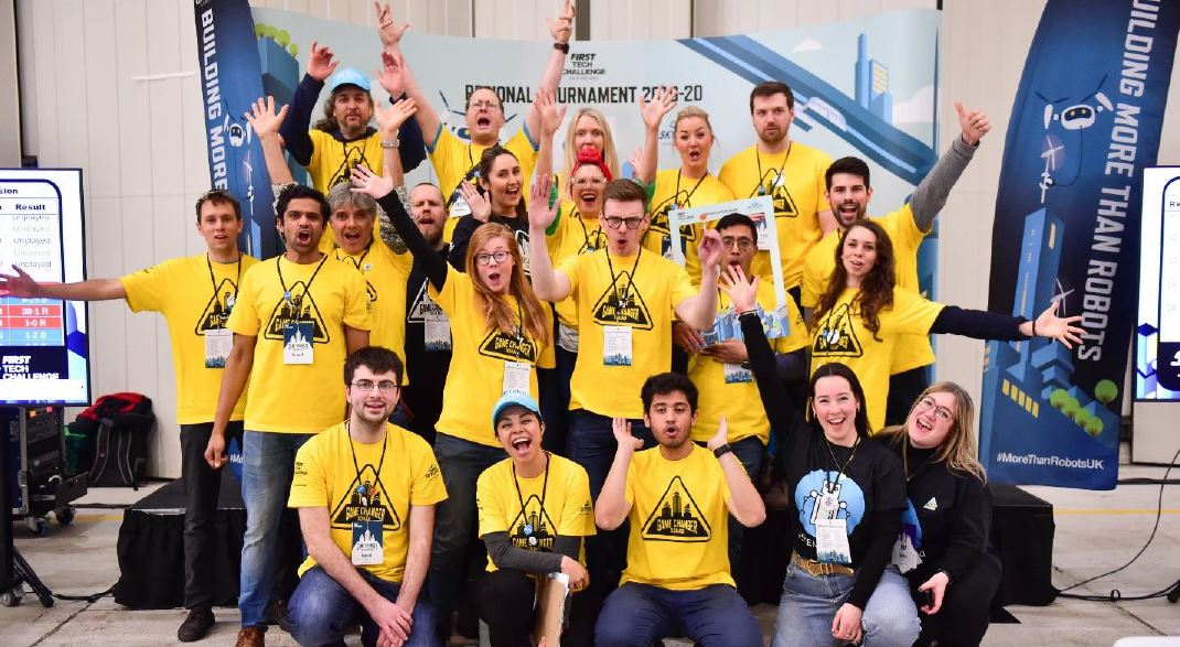 Team Arm volunteers at FIRST tournament