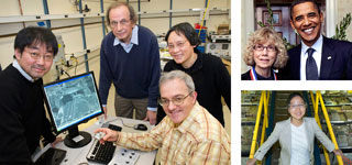 images of Brookhaven lab scientists