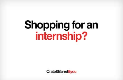 Shopping for an internship?