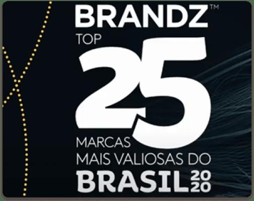 gráfico - Brandz Top 25 Marcas Mais Valiosas do Brasil 2020