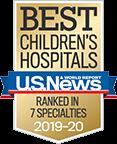 Best Children's Hospitals U.S. News & World Report Ranked in 7 Specialties 2019-20