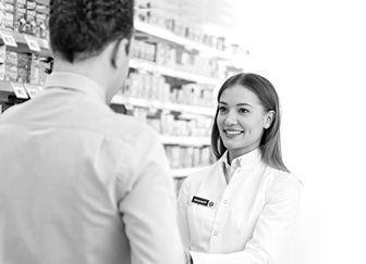 Woman working in pharmacy