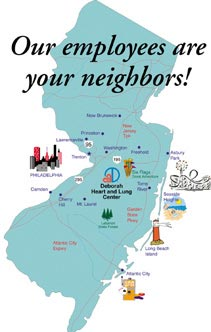 Our employees are your neighbors - the map