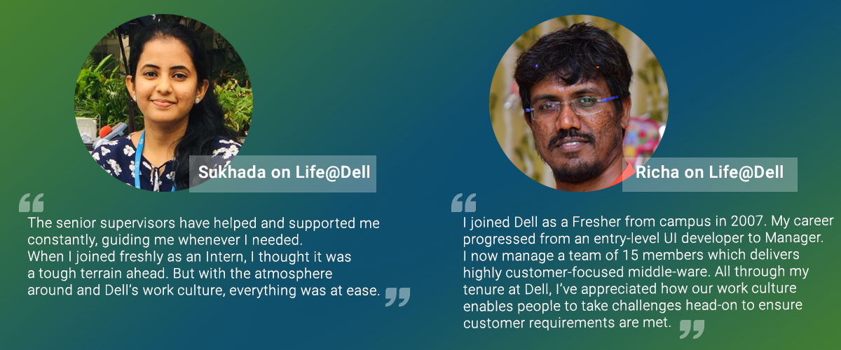 Team members share their experience working at Dell India