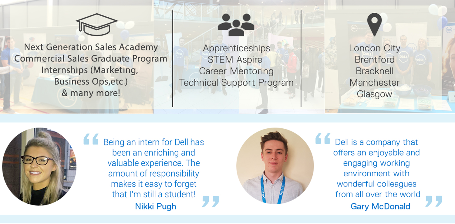 Development Programs available at Dell UK to grow recent graduates careers