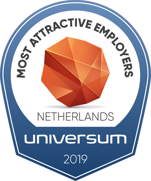 Award for Most Attractive Employers in Netherlands by Universum 2019