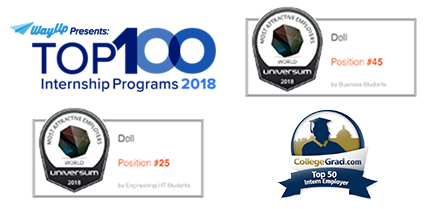 Way Up - Top 100 Internship Programs 2018, Most Attractive Employers USA - Universum 2016, Most Attractive Employers USA - Universum 2016