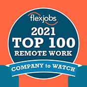 Flexjobs 2021 Top 100 Remot Work - Company to Watch