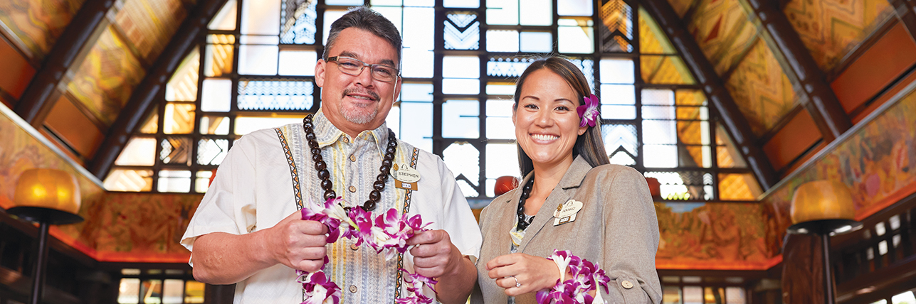 Two employees of Disney Aulani