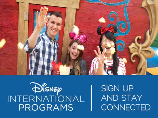 Disney International Programs: Sign Up and Stay Connected