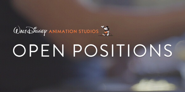 Walt Disney Animation Studios. Open Positions