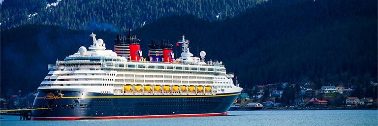 Disney Cruise Liner in the ocean