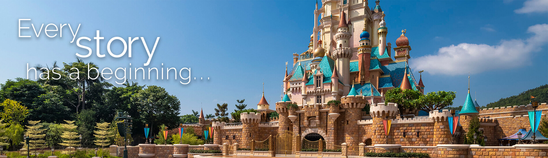 Every Story has a Beginning Walt Disney World castle