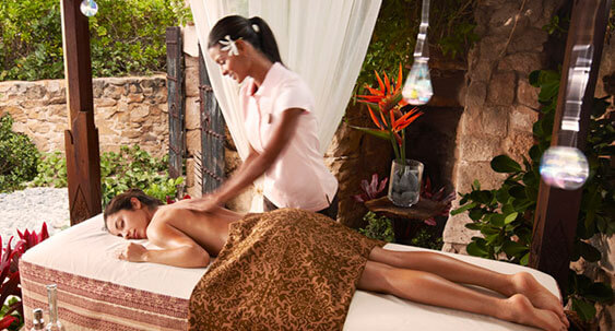 Lady being given a massage