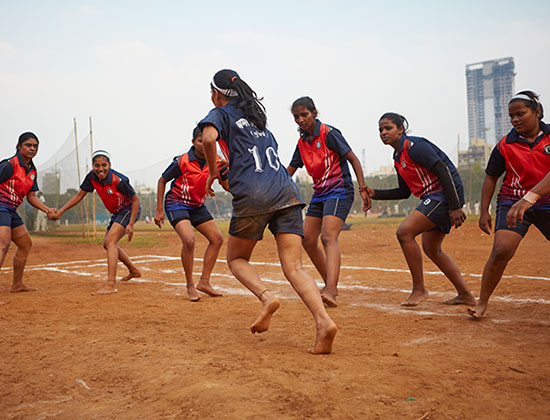 Group of women playing sports