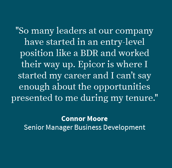 Connor Moore - Senior Manager Business Development Quote image