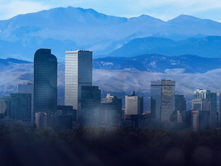 Skyline of Denver, Colorado.