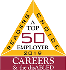 Readers Choice Top 50 Employer 2019 Careers and the Disabled