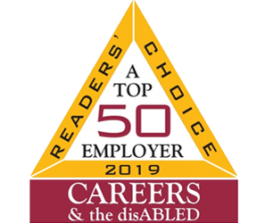 2019 A Readers' Choice Top 50 Employer - Careers and the disABLED
