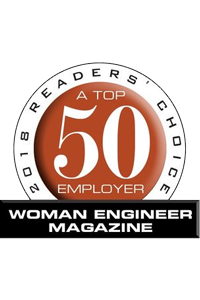 2018 A Readers' Choice Top 50 Employer - Women Engineer Magazine award