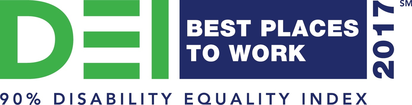 DEI Best Places to work 2017 - 90% Disability Equality Index