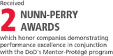 2 Nunn-Perry awards