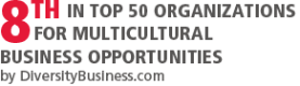 8th in top 50 organizations for multicultural business opportunity