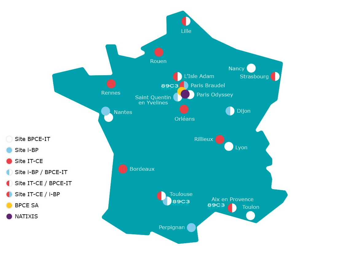 Carte des implantations du groupe