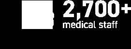 2,700+ medical staff