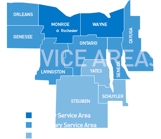 Service Areas Map