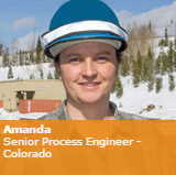 Amanda, Senior Process Engineer from Colorado