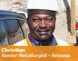 Christian, Senior Metallurgist from Arizona