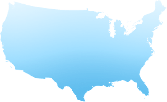 US map with four overlaid image circles depicting ESPN locations in Bristol, NYC, LA and Seattle