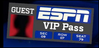 concept version of an ESPN guest VIP Pass