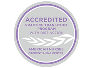 Accredited practice transition program with distinction - american nurses credentialing center.