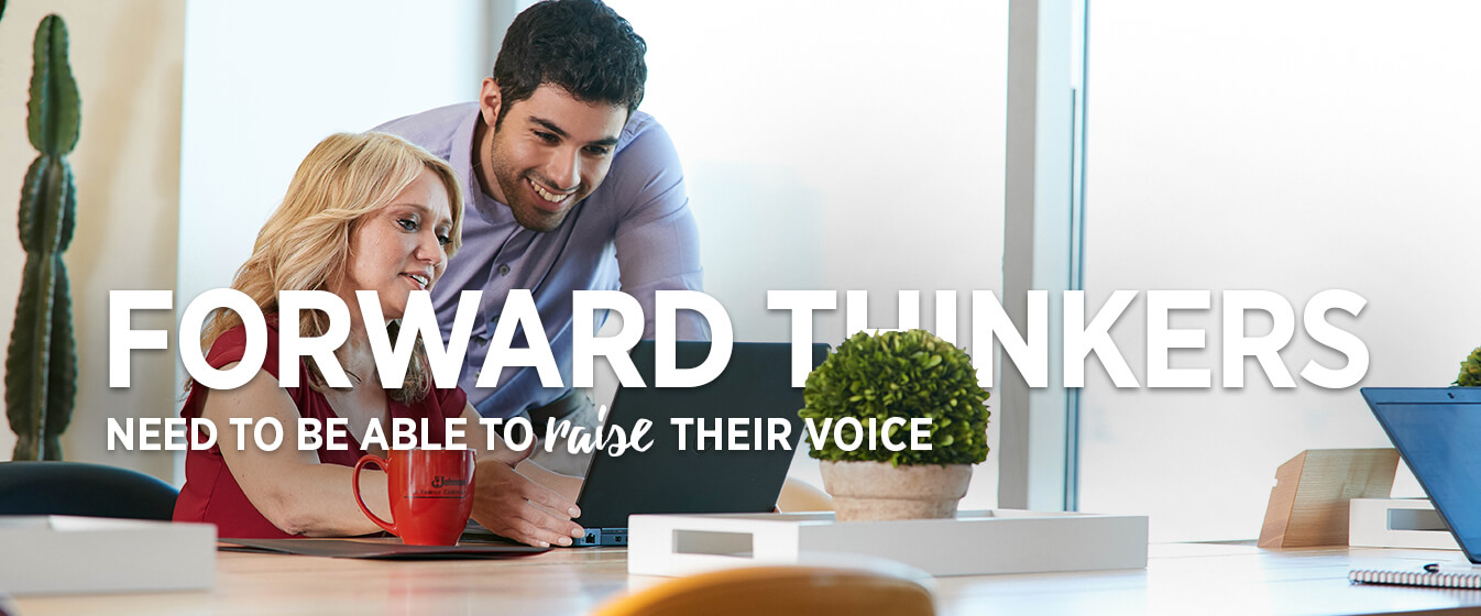 Forward Thinkers Need to Be Able to Rais Their Voice.