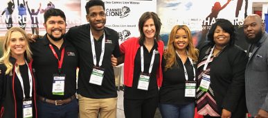 SC Johnson recruiting team members at National Black MBA Conference