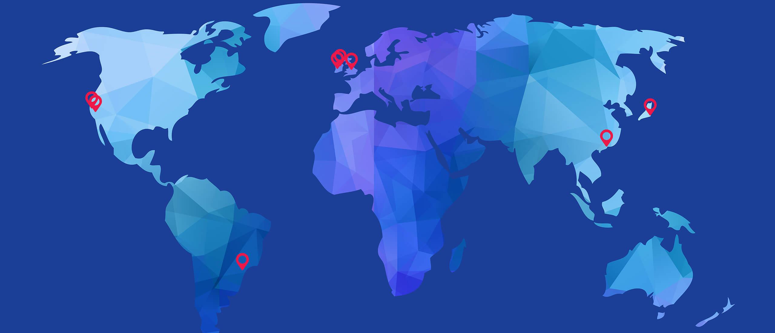 Biomarin world location map