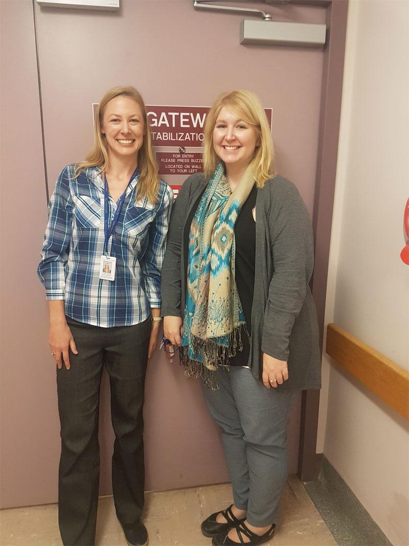 Morgan, Alyshia MHSU Manager & Tracey Gazel