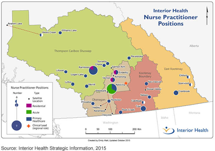 Distribution of Nurse Practitioners Throughout IH Region