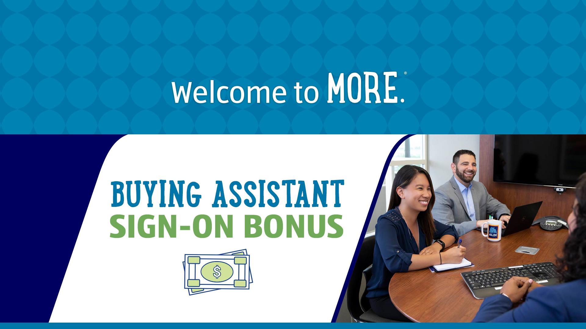 Buying Assistant Sign-On Bonus