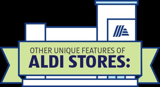 Other unique features of ALDI stores: