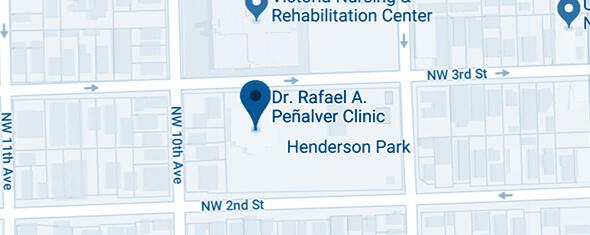 Dr. Rafael A. Peñalver Clinic Map